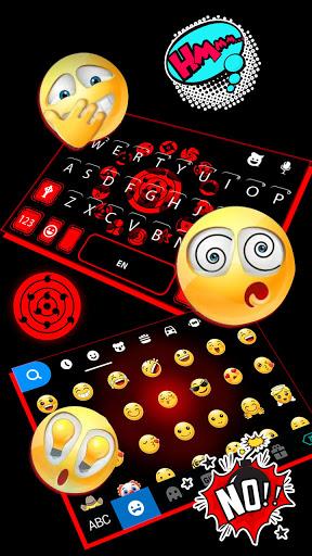 Sharingan Signs Keyboard Hintergrund-Screenshots 4