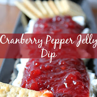Cranberry Pepper Jelly Dip.