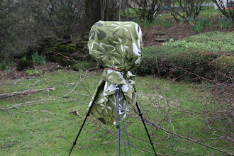 Photo: Fleece blanket cover two NT1a in NOS setup.  The problem with cardioid mics are they are normally very sensitive for wind.  Therefor we need to take special care of everything, even make a windshield for the tripod.