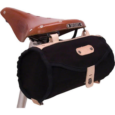Banjo Brothers Minnehaha Canvas Barrel Saddle Bag - Black Thumb