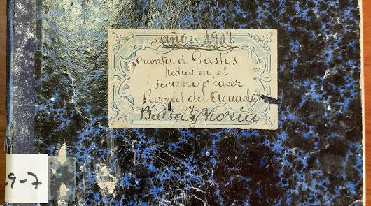 Exponen una libreta de 1917 con los gastos de hacer un parral en Berja