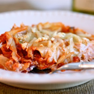 Mushroom, Goat Cheese and Spicy Chicken Sausage Lasagna