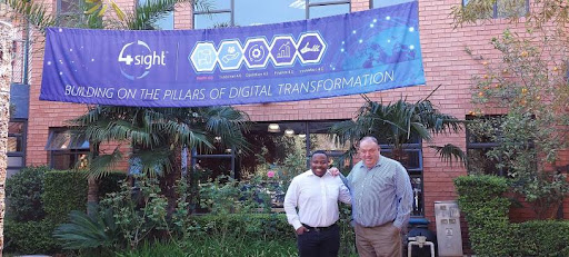 4Sight Africa MD, Christiaan Leboho and CEO 4Sight Holdings, Tertius Zitzke.