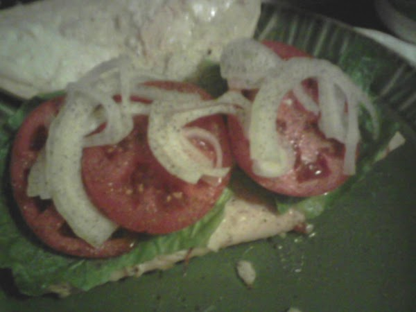Remove from oven, take the crust off on the cheese side, add the lettuce,...