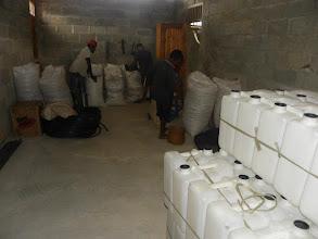 Photo: Storage facility at the Maliana SRI Rice Centre in Timor Leste.  [Photo courtesy of Movimento Co-operativa Econômica Agricoltura  (MCE-A) SRI program, Timor Leste, July 2015]