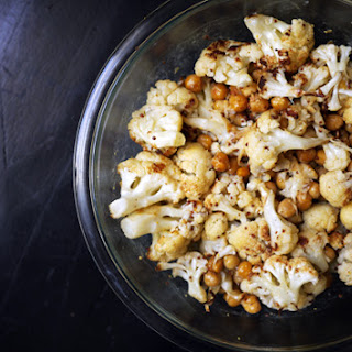 Roasted Cauliflower with Chickpeas and Mustard