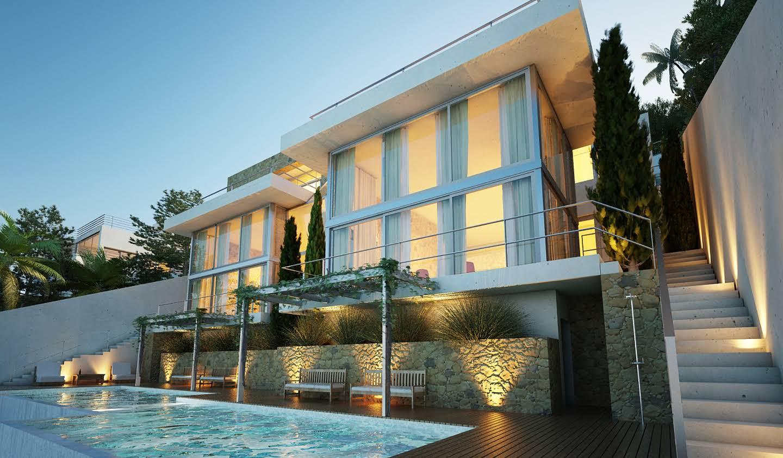 Maison contemporaine avec piscine en bord de mer Majorque
