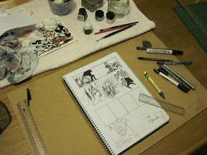 Photo: More inking of the pencils