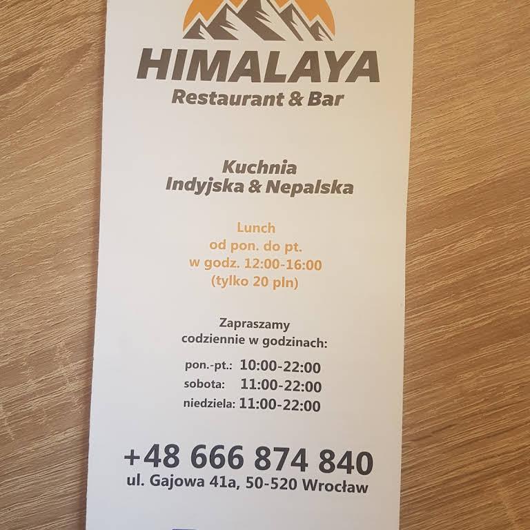 Himalaya Restaurant Bar Kuchnia Indyjska W Wrocław