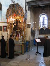 Photo: Bethléem : église de la Nativité, autel arménien orthodoxe