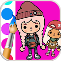 Toca Life Coluring book icon