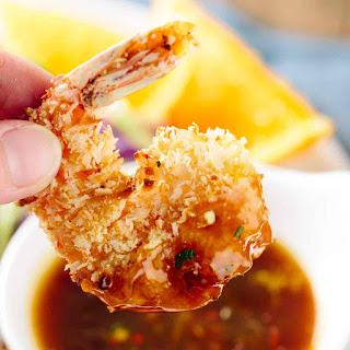 Crunchy Baked Coconut Shrimp with Orange Sauce