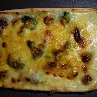Homemade Sun Dried Tomato Whole Wheat Gnocchi, Broccoli and Cheese Skinny Bake