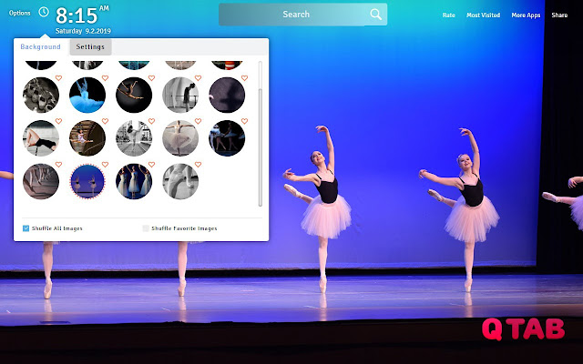 Ballet Wallpapers Theme Ballet New Tab