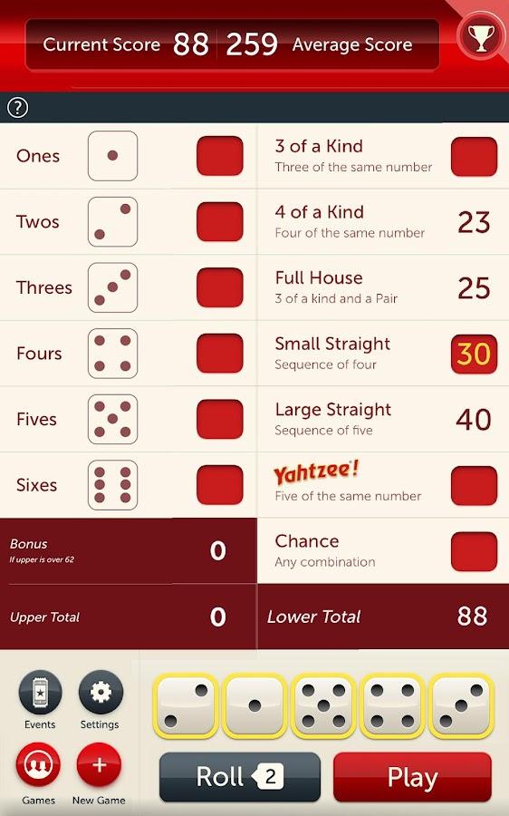 6 dice yahtzee games desire facebook