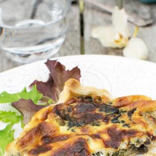 Spinach & Mushroom Mascarpone Quiche [vegetarian]