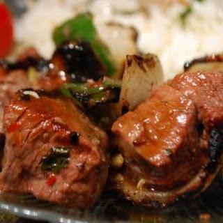 Thai Beef Kabobs.