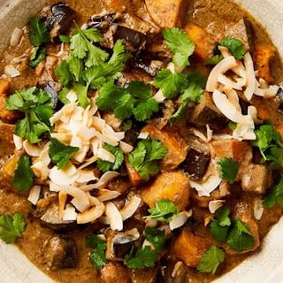 Sweet Potato and Aubergine Massaman Curry Recipe