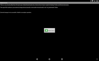 Screenshot of MyBookmarks