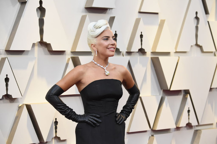 Lady Gaga wearing a necklace featuring the famed Tiffany Diamond at the 91st Annual Academy Awards on February 24 2019 in Hollywood, California.
