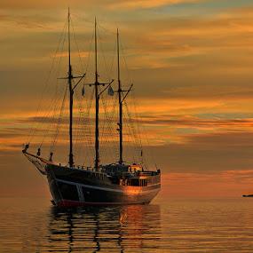 Ship at Sulawesi by Zdenka Rosecka - Transportation Boats ( water, device, transportation,  )