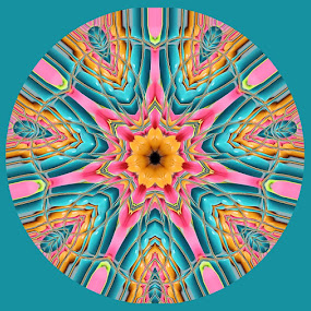 Easter Mandala 1 by Pam Blackstone - Illustration Abstract & Patterns ( pastels, easter, blue, pink, symmetry, yellow, mandala )