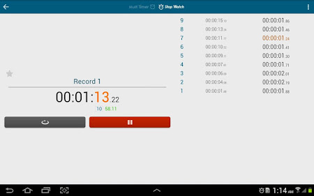 Multi Timer StopWatch 2.3.1 screenshot 257027