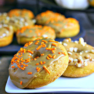 Pumpkin Donuts with Molasses Glaze