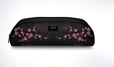 Photo: Matching heat-resistant satin storage bag with floral embroidery detail - http://bit.ly/RfcHU3