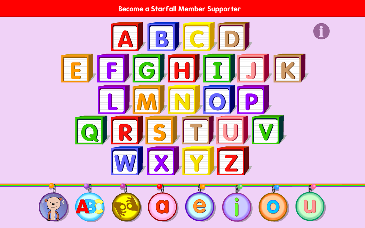 Starfall ABCs- screenshot