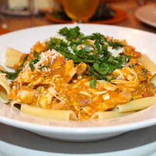 Creamy Chicken Pumpkin Parmesan Pasta