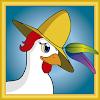 Chicken with hat