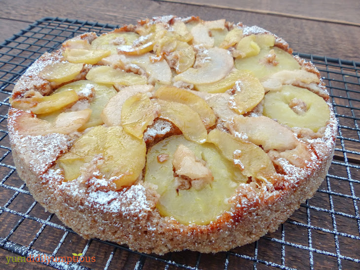 Pear, Apple and Pecan Cake