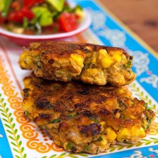 Corn and Coriander Fritters with Avocado Salsa Recipe