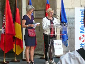 Photo: discours de Renate Sterzel, adjointe au Maire de Francfort