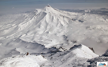 Photo: View down the slopes of Koryaksky - there is still somebody climbing up