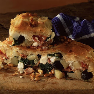Bacon, Spinach and Potato Filo Pie