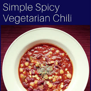 Simple Spicy Vegetarian Chili.