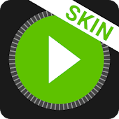MusiX Material Dark Green Skin for music player