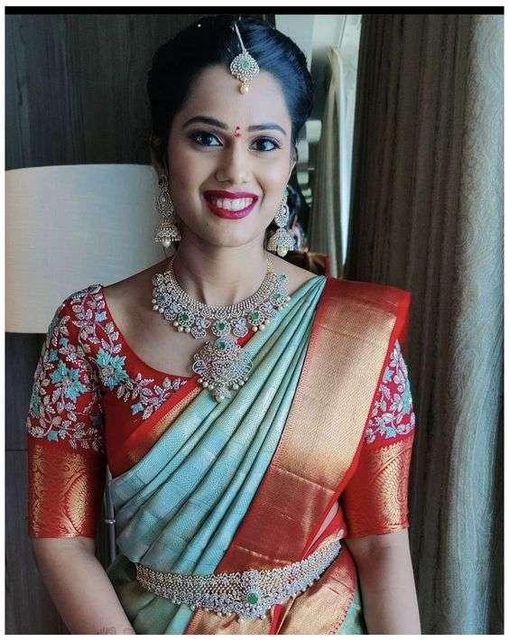 Bridal Embroidered Saree Blouse Designs