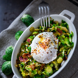 Brussel Sprout Hash W/ Soft Poached Eggs and Aleppo Chili Pepper Recipe
