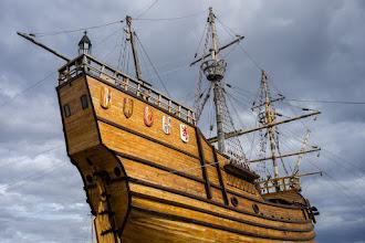 Photo: A full-size replica of the Nao Victoria, Ferdinand Magellan's flagship,...