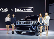 The new Kia Masterpiece concept with the Korean girl band, Blackpink.