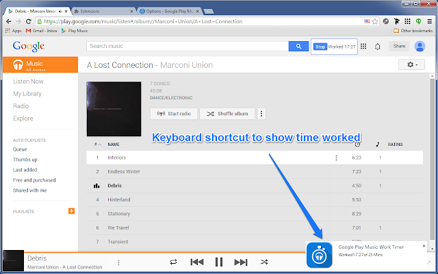 google play music playlist extension