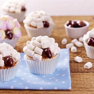 Schattige Cupcakes Van Lente Schaapjes Met Kokos