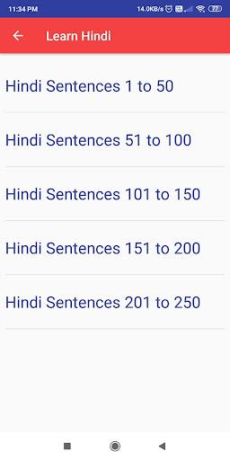 Learn Hindi through Tamil 1.7 screenshots 8