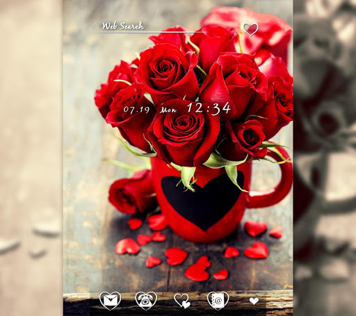 Cute wallpaper-Roses & Hearts 1.0.0 Windows u7528 1