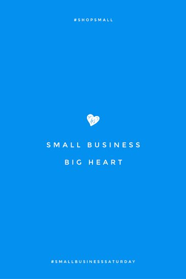 Small Business Big Heart - Pinterest Pin Template