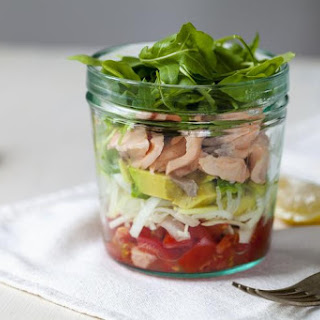 Salmon & Avocado Salad with Lemon Dressing