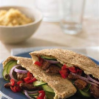 Greek-Style Beef Pita.